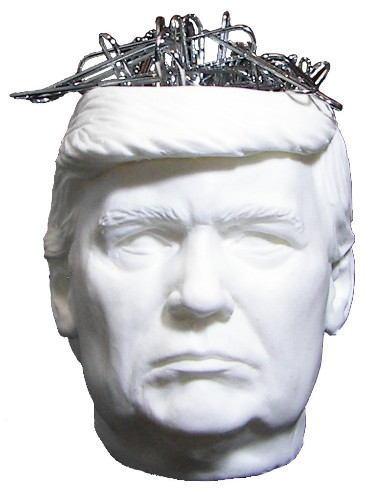 TRUMP HEAD PAPER CLIP HOLDER - PAPERCLIP HOLDERS