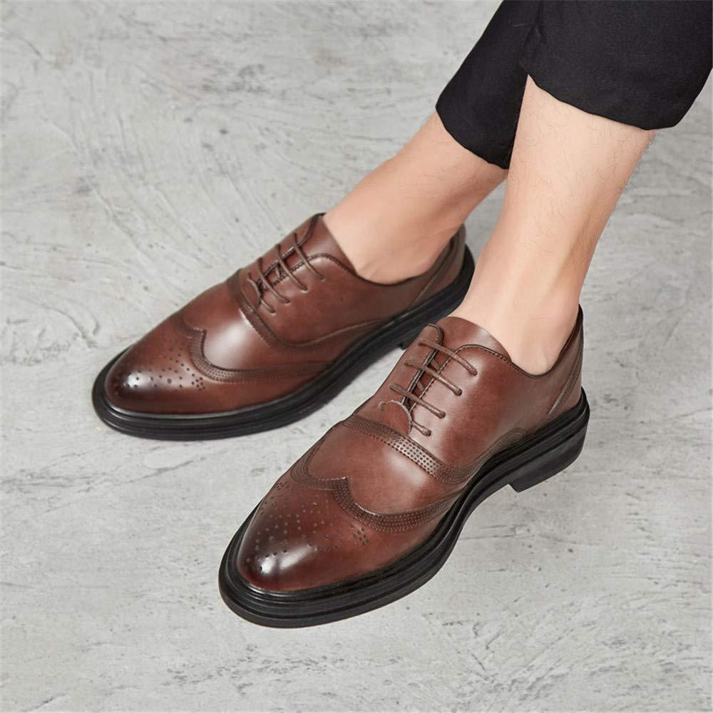Xujw-schuhe, 2018 Schuhe Schuhe, Herren Herren Business Oxford Schuhe, Schuhe Lässige Mode Retro Pinsel Farbe Klassische Outsole Brogue Schuhe (Farbe : Rot, Größe : 44 EU) Braun 225473