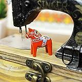 ダーラナホース ダーラヘスト 置物 レッド Grannas グラナス A オルソン ヘムスロイド社 北欧スウェーデン製 木彫りの馬 メーカーパンフレットと日本語のオリジナル説明書付き (XXS 高さ:3cm)