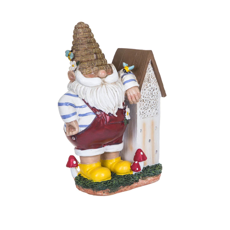 "Topadorn 11"" Honey Gnome with Habitat Outdoor Garden Decorative Statue"