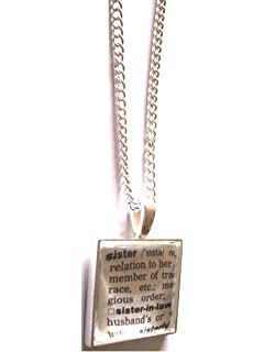 English gems silver plated necklace with dictionary word bookworm sister dictionary word excerpt in pendant with necklace in gift box aloadofball Choice Image