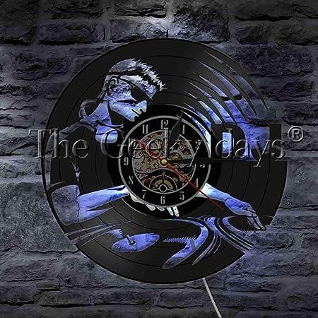 CHLZYY Acrylicvinyl Record Fashion Reloj de Pared DJ Tocadiscos ...