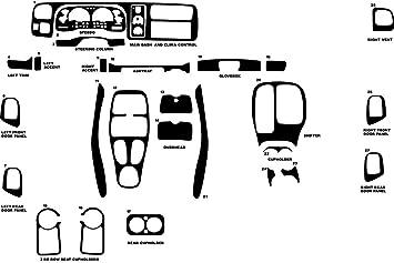 Rdash Wood Grain Dash Kit for Toyota Tacoma 1998-2000 Honey Burlwood