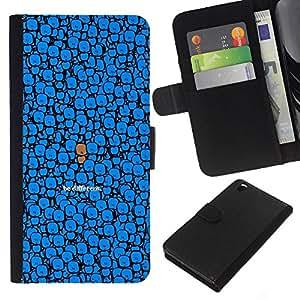 YiPhone /// Tirón de la caja Cartera de cuero con ranuras para tarjetas - LINDO SER DIFERENTE - HTC DESIRE 816