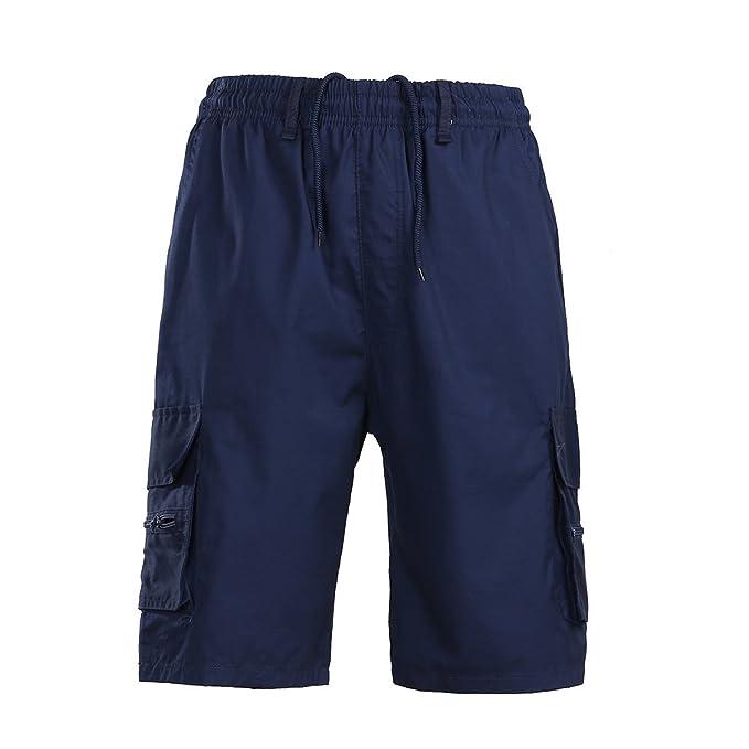 c249461947 Yying Bermudas Cargo Hombre Cintura Elástica Pantalones Cortos - Medio  Verano Bañador Casual Chino Pantalones Cortos Moda Sólido Medio Pantalón:  Amazon.es: ...