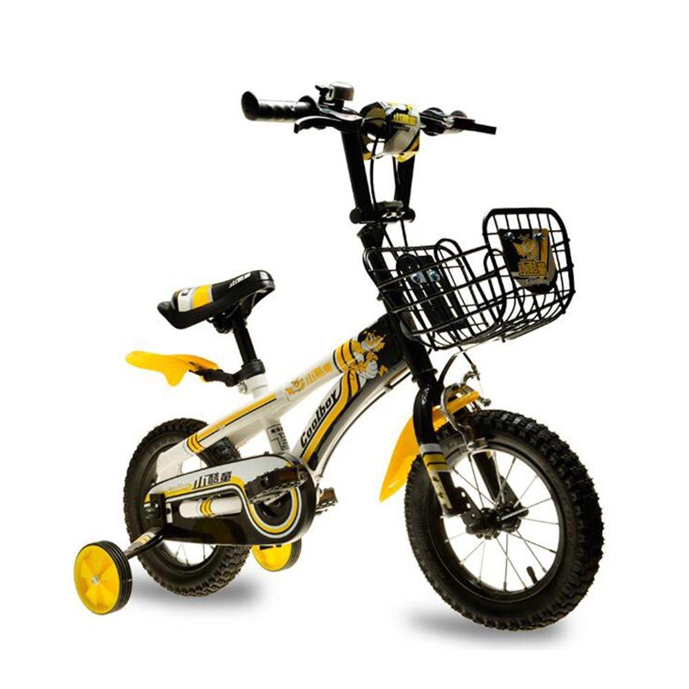 XQ 子供用自転車12インチベビー用ベビーキャリッジ男性と女性子供用安全自転車マウンテンバイク3-6歳 子ども用自転車 ( 色 : イエロー いえろ゜ ) B07CCKPFDQ イエロー いえろ゜ イエロー いえろ゜