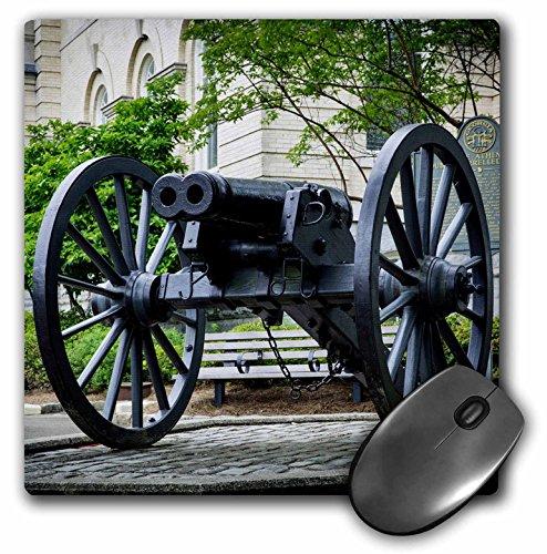 3dRose Danita Delimont - Weaponds - Infamous double-barreled Cannon, Athens, Georgia - MousePad - Athens Images Georgia