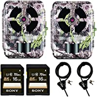 Primos 12MP Proof 46 Matrix Trail Camera, Set of 2 + Memory Cards + Cable Locks
