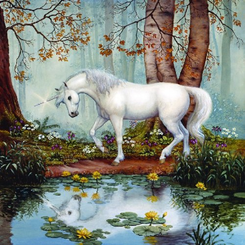 Forest Unicorn 500pc Jigsaw Puzzle by Ruth Sanderson