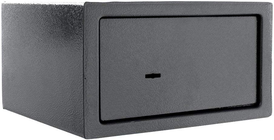 Rottner Saturn LE17 £1000 Cash-Rated Fire-Resistant Key Lock Safe for Home or Office – Double-Bit Safety Lock with Strong Locking 18mm Bolts – Affordable Small Compact Safety Deposit Box