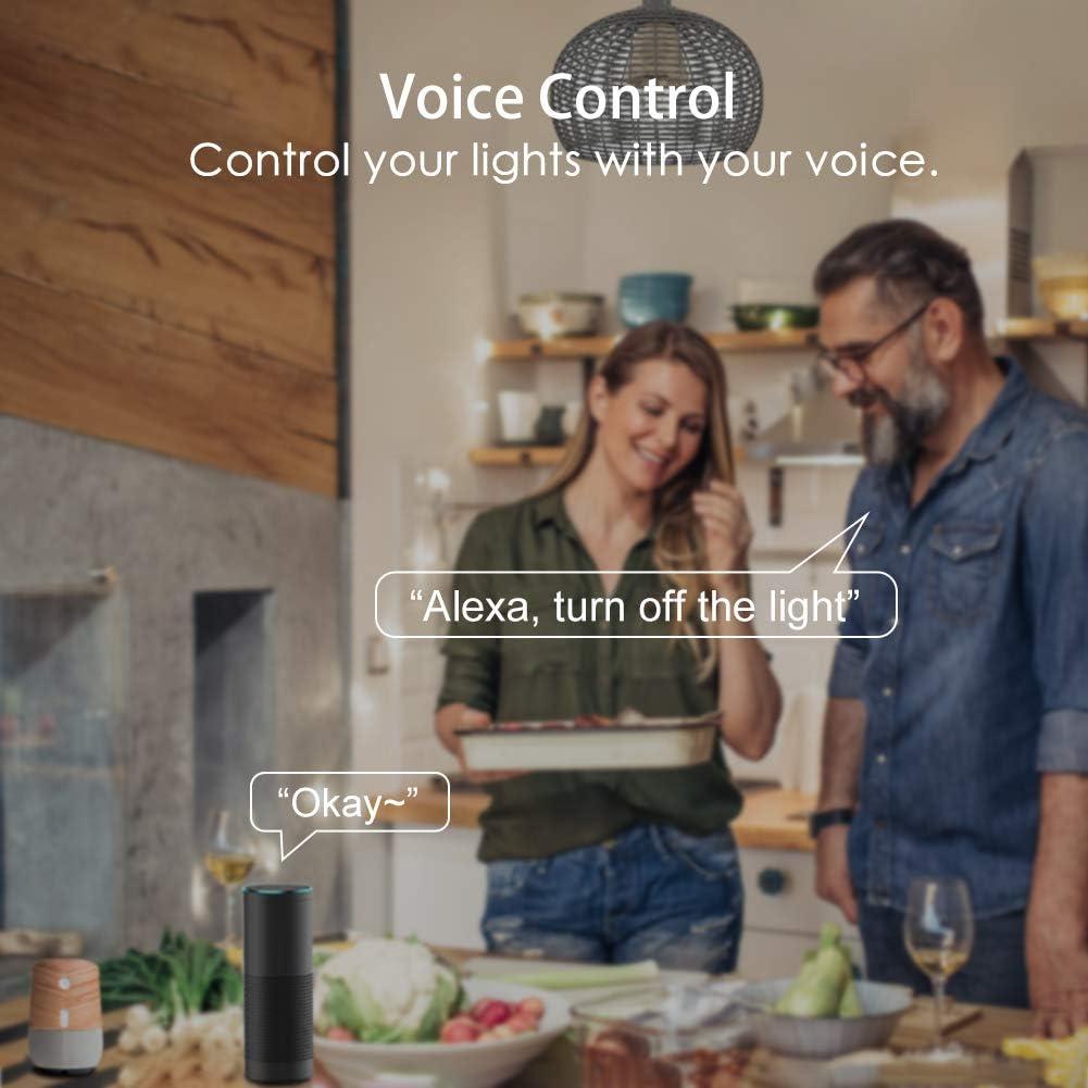 Wlan 5 W 2800 K regulable bombilla 16 millones de colores no necesita hub compatible con Google Home IFTTT by Avatar Controls 4 unidades Bombillas Alexa E14