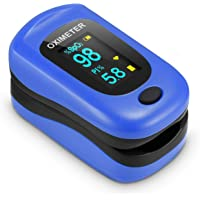 Oxímetro de Pulso, Pulsioximetro de Dedo Profesional con Pantalla OLED que Medición y Lectura Instantánea de SpO2, PR y…