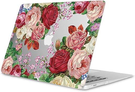 Jaune sacoche Top Case Pack 4 en 1 Coque rigide caoutchout/ée pour clavier protection d/écran compatible avec MacBook Air 13 avec /écran Retina Compatible avec Touch ID Mod/èle A1932