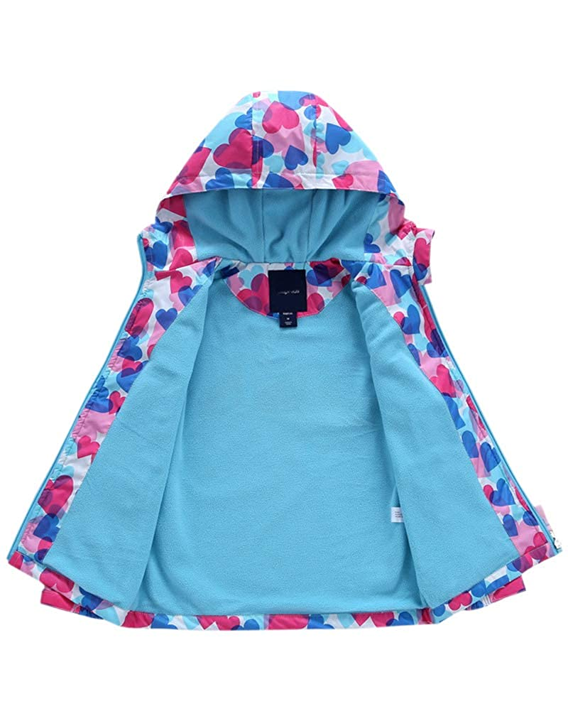 Welity Boys /& Girls Rain Jackets Lightweight Waterproof Hooded Raincoats Windbreaker Coats