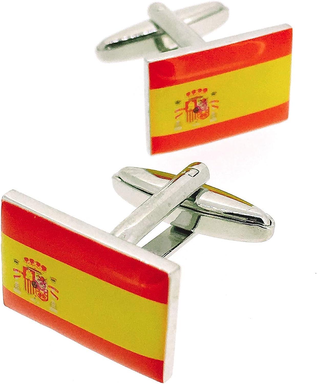 Gemelos para camisa Bandera España: Amazon.es: Ropa y accesorios