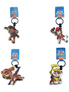 Paw Patrol 7cm Torch Light Key Ring Chase Skye Rubble Keyring LED