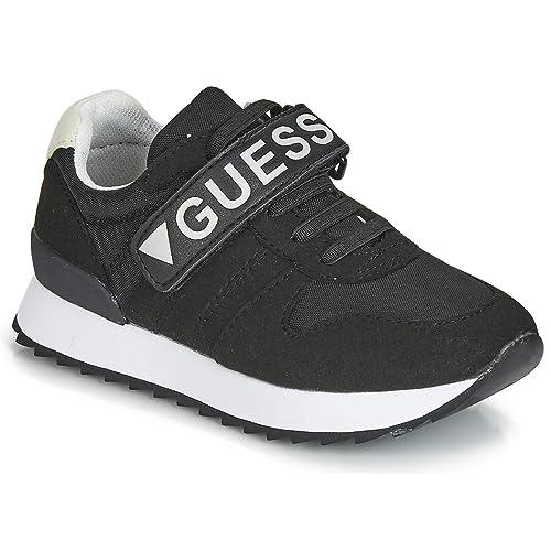 GUESS Rudy Zapatillas Moda Chicos Negro Zapatillas Bajas: Amazon.es: Zapatos y complementos