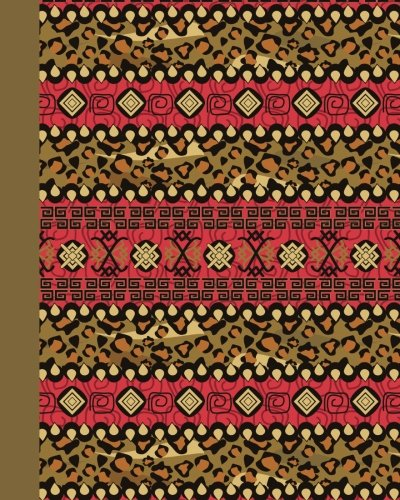 Sketch Journal: Tribal Pattern 8x10 - Pages are lightly lined with EXTRA WIDE RIGHT MARGINS for sketching, drawing, and writing (8x10 Patterns & Designs Side Sketch Journal Series)