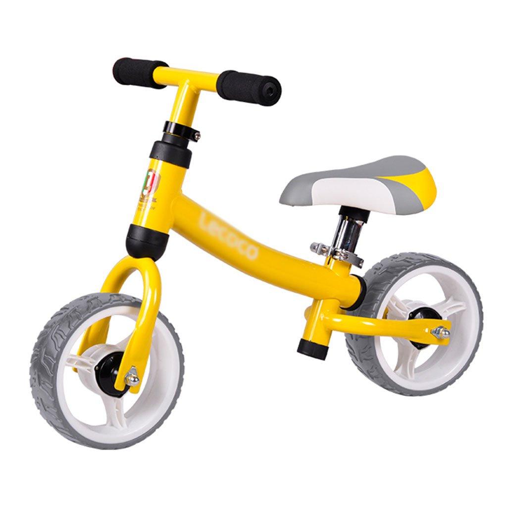 【国内配送】 子供のスライディングカースクーターウォーカーベビーノーペダル自転車子供のおもちゃダブルホイール2-6歳 Yellow B07FZ7RR54 B07FZ7RR54 Yellow, ウタノボリチョウ:4b15007c --- a0267596.xsph.ru