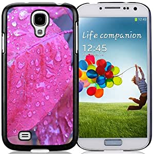 NEW DIY Unique Designed Samsung Galaxy S4 I9500 Phone Case For Pink Leaves with Dew Drops Phone Case Cover