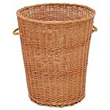 Stationary Round Willow Basket with Handles - 24''Dia x 35 1/2''H