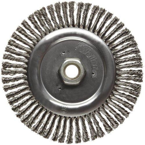 """0.14/"""" Crimped Steel Wir Weiler 6655 Vortec Pro 7/"""" Wide Face Bench Grinder Wheel"""