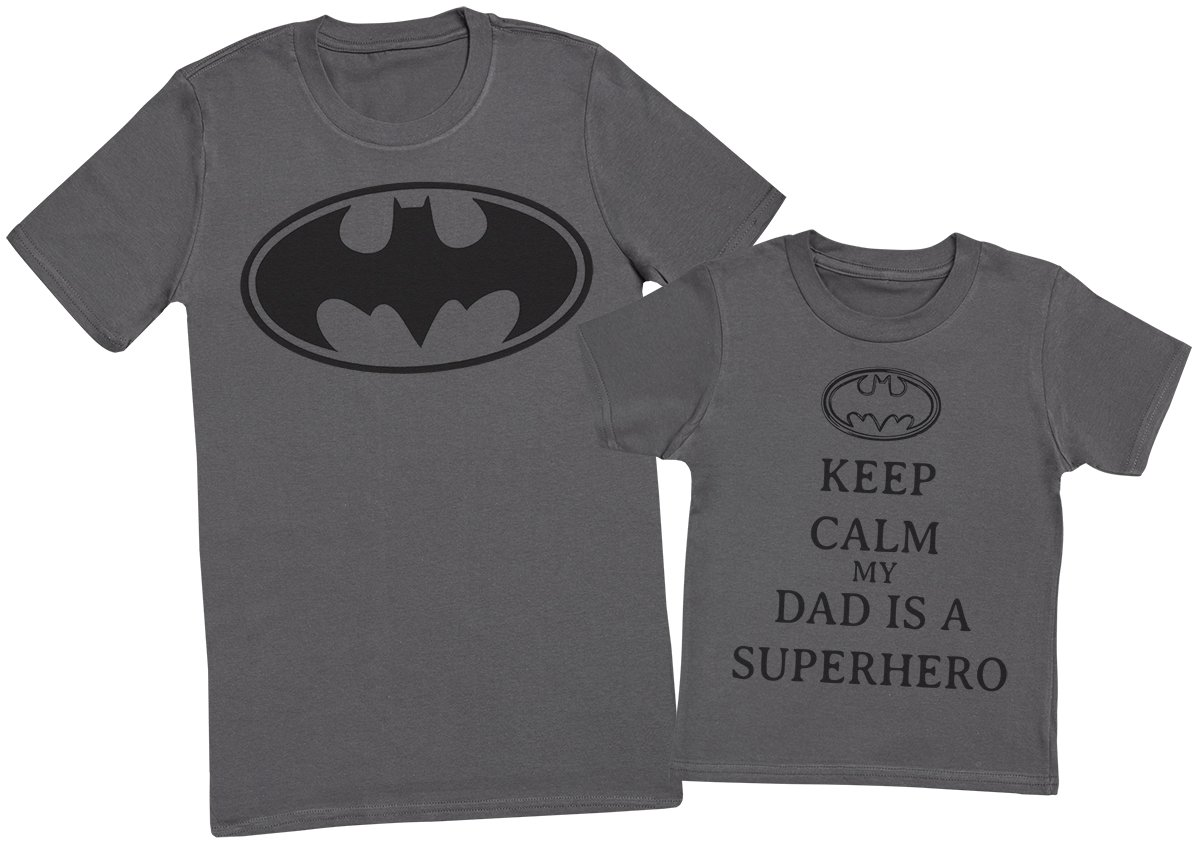 Create a Matching Father Baby Gift Set Keep Calm My Dad is A Hero Each Sold Separately Mens T Shirt /& Baby Bodysuit -