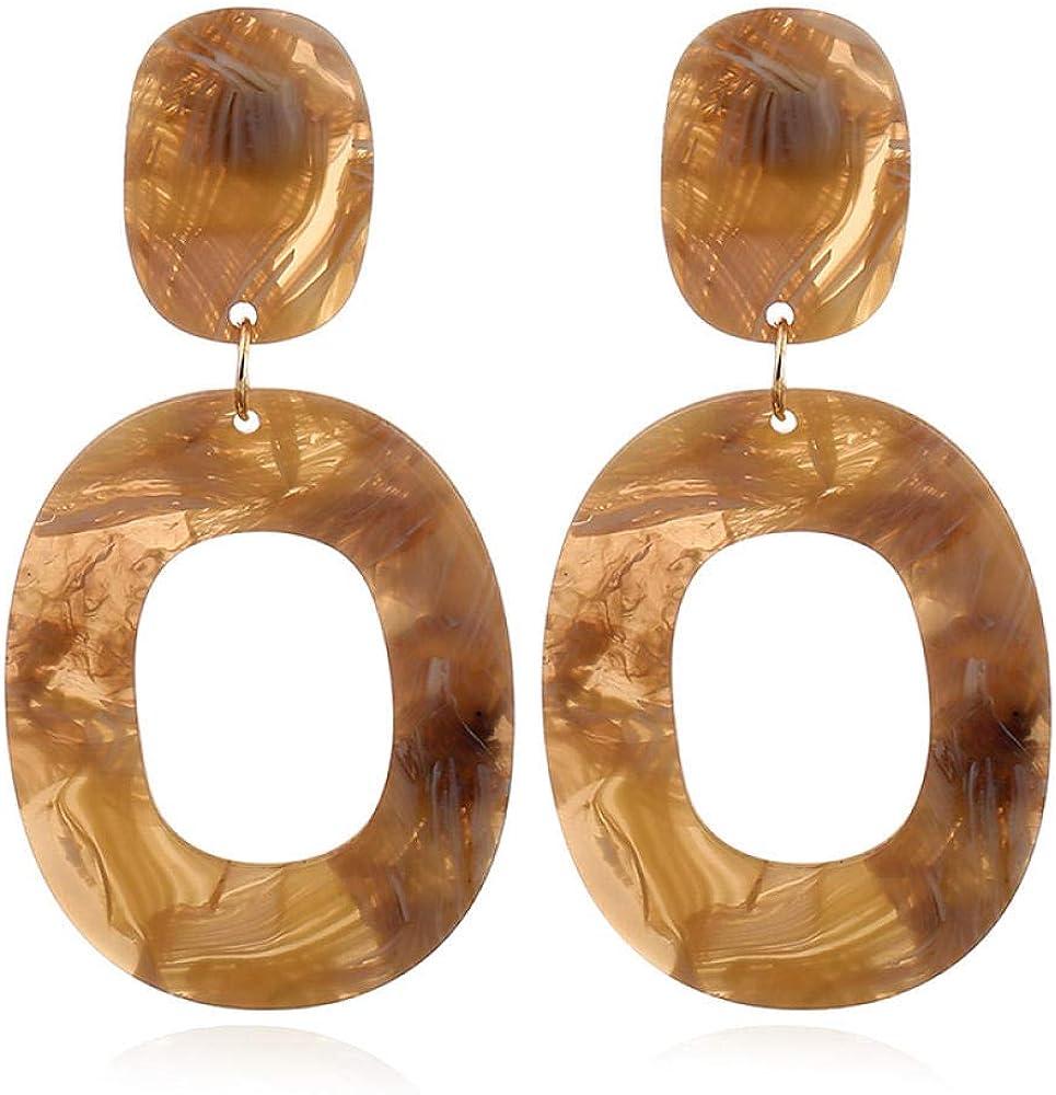 Pendientes retros colgantes, Pendientes de perlas, Regalo para el Día de la madre,Pendientes de botón cuadrados redondos geométricos multicolores de piedras preciosas