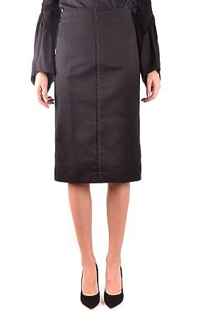 super populaire 9e50e cde8d Fendi Femme Mcbi36391 Noir Coton Jupe: Amazon.fr: Vêtements ...