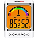 ThermoPro TP52 Digital Hygrometer Indoor Thermometer Temperature and Humidity Gauge Monitor Indicator Room Thermometer with B