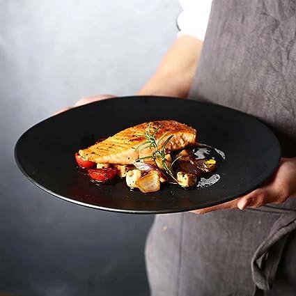 11in placa en forma de platos vajilla de cerámica, para ensalada Inicio fruta de la