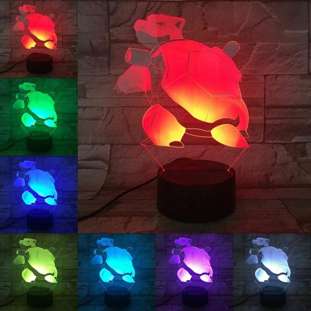 ARXYD Lámpara de mesa con luz nocturna de 16 colores Lámpara de dibujos animados juego de mascotas personaje vidrio noche bombilla multicolor niños regalo niño juguete accesorios de toque Lámpara de M: