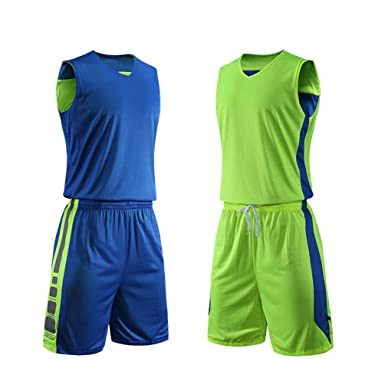 dc7ec3a6a Amazon.com  yingfeg bb Basketball Reversible Jersey and Shorts Sports Tank  Top w Athletic Shorts for Men  Clothing