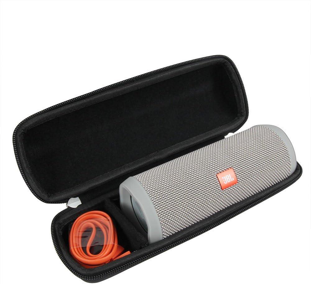 Hermitshell - Funda de viaje rígida, de EVA, para altavoz Bluetooth portátil JBL Flip 4, a prueba de salpicaduras