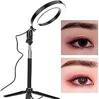 LED ringlampa, fotofyllningsljus, 20 cm ring LED-lampa dimbar fyllningslampa med stativ för video Live Makeup