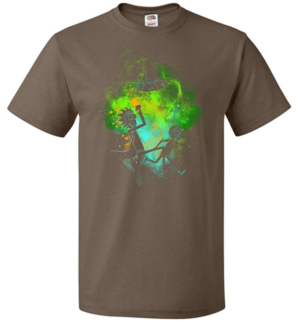 Rick Morty Art Unisex T-Shirt Adult Pop Culture Graphic Tee Nerdy Geeky Apparel