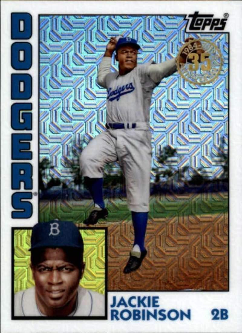 2019 Topps Series 1 Baseball Silver Wrapper Packs Chrome 1984 84 Refractor #T84-6 Jackie Robinson Brooklyn Dodgers