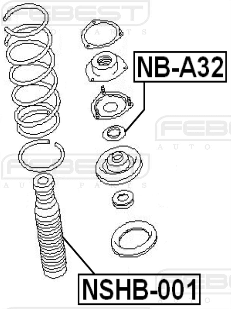 540500W002 For Nissan Febest Shock Absorber Boot Front