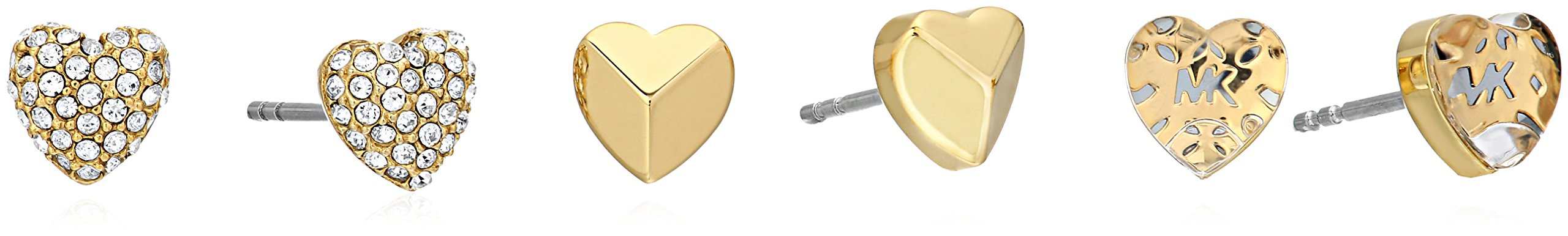 Michael Kors ''Logo'' Logo Love Gold-Tone Stud Earrings