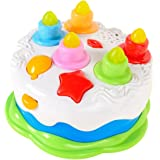 Mallya Kids Birthday Cake Toy For Baby Toddlers With Counting Candles Music Gift