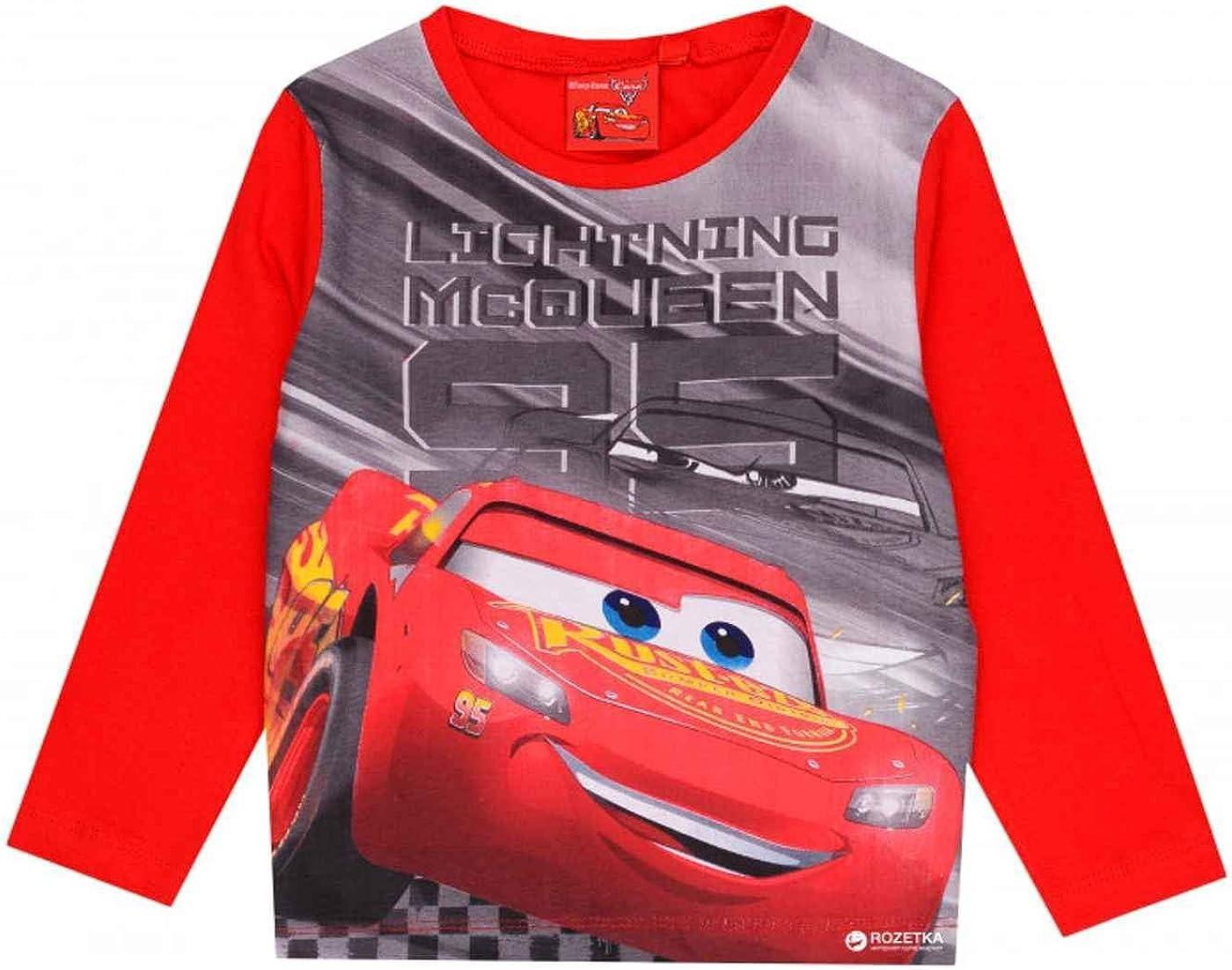 et/à 3-8 anni Maglietta a maniche corte per bambini Disney Pixar Cars