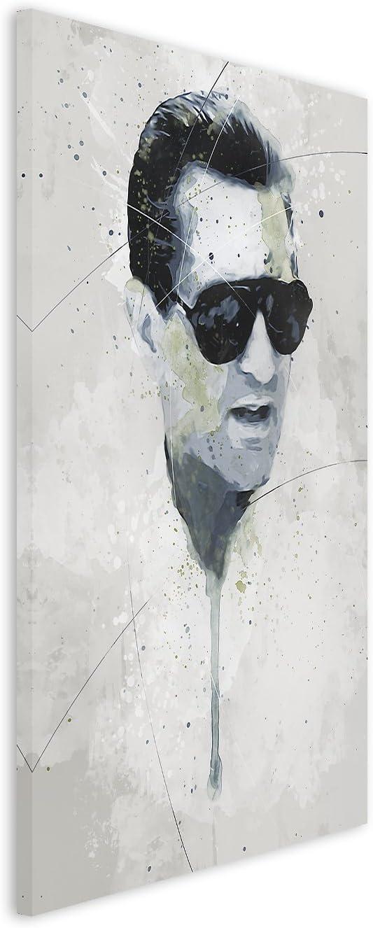 Toile 90x50x3 cm Paul Sinus Art Robert/_De/_NIRO/_I/_Aqua/_90x60cm Tableau Mural Multicolore