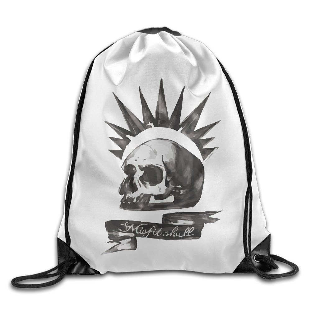Unisex Life Is Strange Chloe Price Misfit Skull Gym Drawstring Sack Cinch Bag