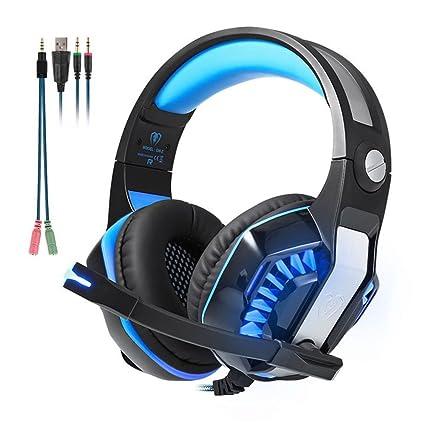 Beexcelente GM-2 - Auriculares de diadema para juegos con micrófono, claridad de sonido, reducción de ruido ...