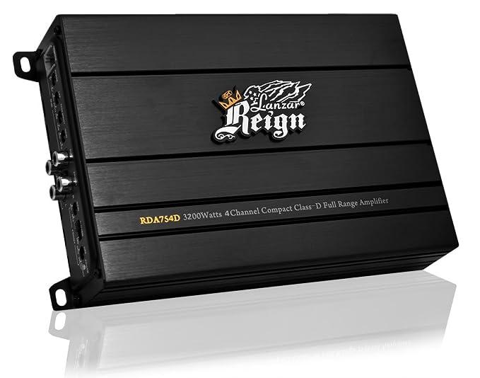 Lanzar Reign - Amplificador híbrido (4 canales, 3200 W), color ...