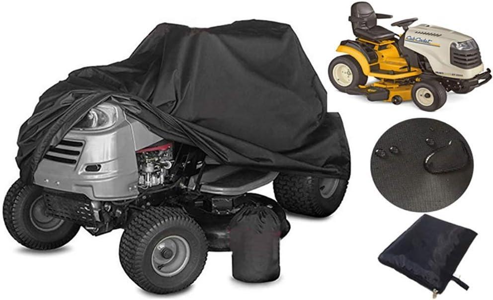 WWWANG Cubra el Tractor Negro Heavy Duty Césped protección Impermeable UV, Segadora Cubierta Durable del paño de Oxford con el Lazo (Size : 245 * 50 * 140CM)