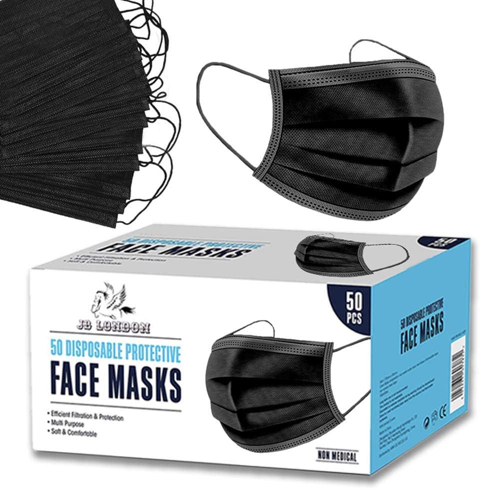 JB London - Mascarillas faciales desechables, 50 unidades ...