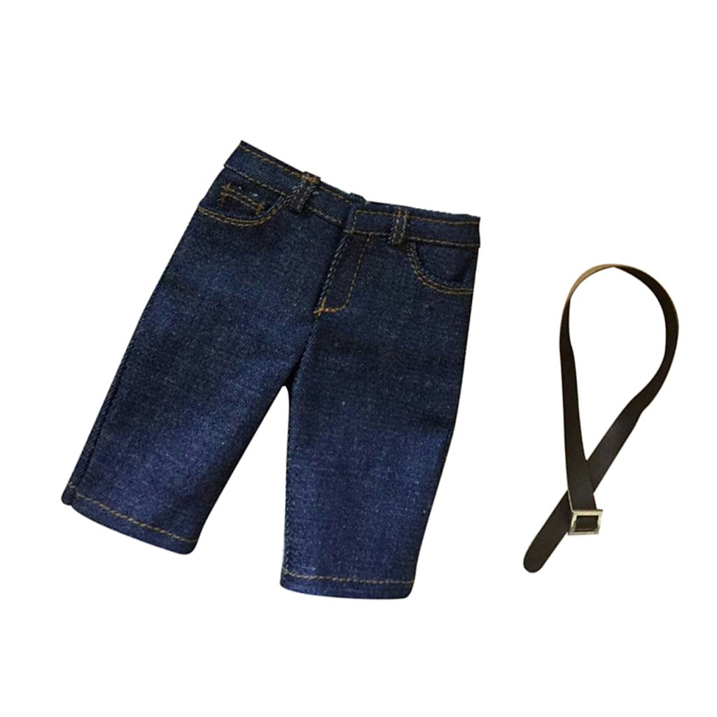 Men/'s Clothing Dark Blue Jeans Pants for 1//6 Scale 12/'/' Enterbay Figure Body