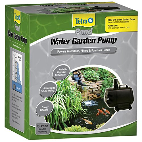 Tetrapond water garden pump powers waterfalls filters for Garden pond supplies