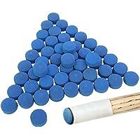 YuCool Puntas de Billar de Billar de 50 Piezas, reemplazos de Punta de Taco de para Tacos de Billar y Billar Azul